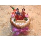 アレルギー対応ケーキ,グルテンフリー,米粉ケーキ,いちごケーキ,おひな様,ひなまつり,